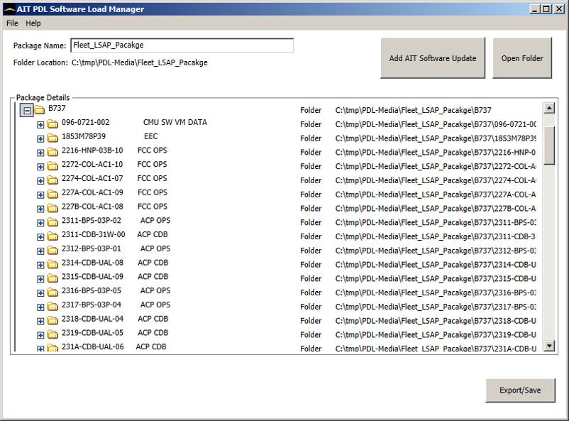 AIT ARINC 615 & ARINC 615A PDL Manager Software